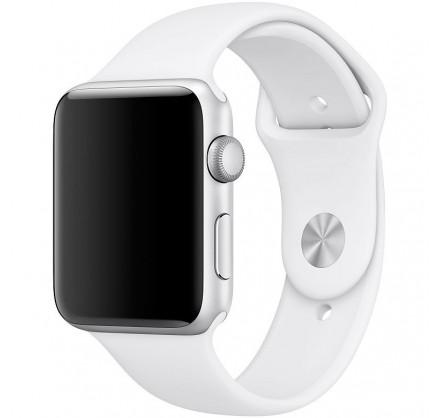 Силиконовый ремешок Apple Watch 42/44мм белый
