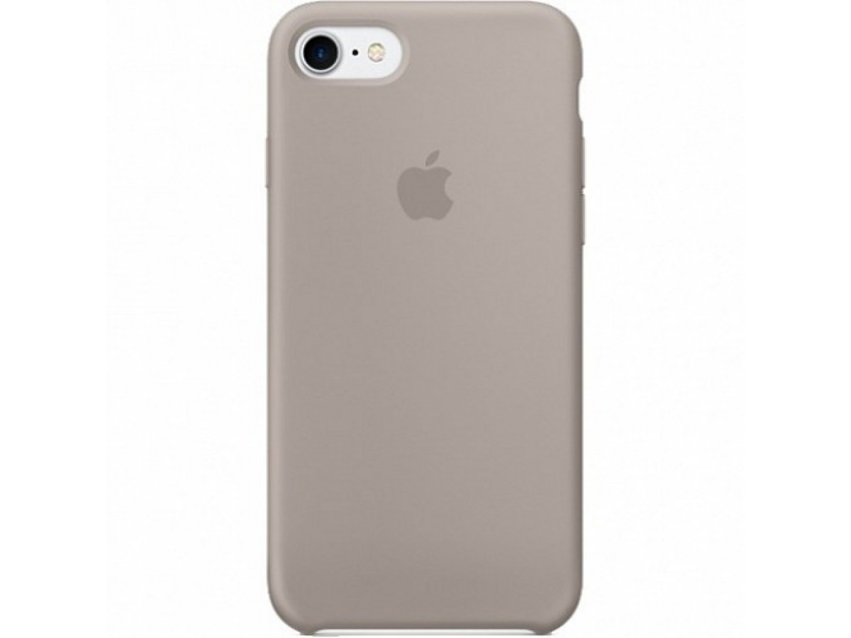 Чехол Silicone Case iPhone 7/8 серый в Тюмени