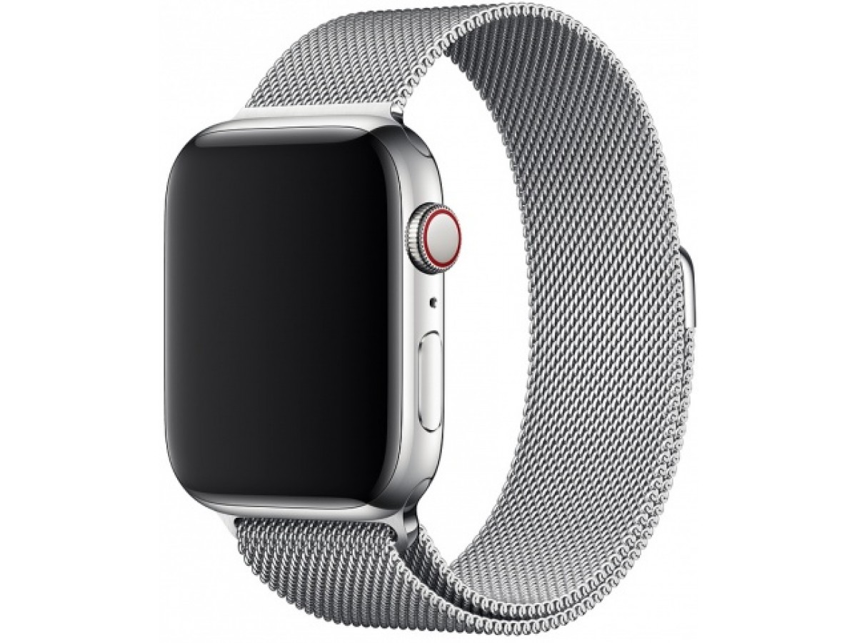 Ремешок миланский браслет Apple Watch 38/40 мм серебро в Тюмени