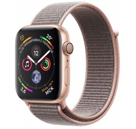 Apple Watch Series 4, 40 мм, корпус из алюминия золотог...