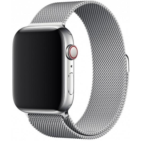 Браслет Apple Watch 42/44мм миланский сетчатый (серебро)