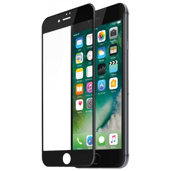 Стекло защитное iPhone 6 Plus/6s Plus (3D) черное