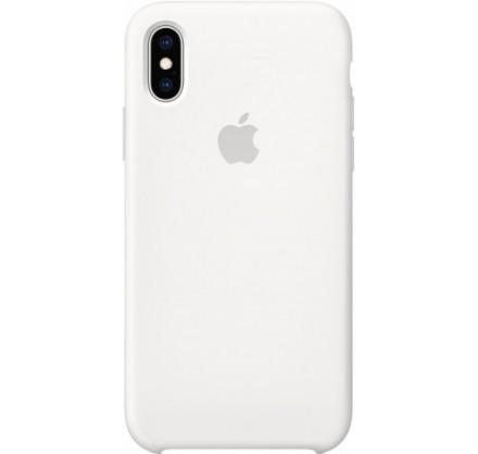 Чехол Silicone Case качество Lux для iPhone X/Xs белый