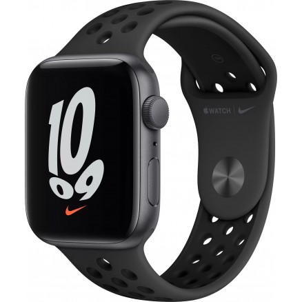Apple Watch Nike SE, 44 мм, корпус из алюминия цвета (с...
