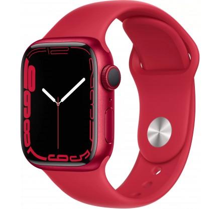 Apple Watch Series 7, 41 мм, корпус из алюминия красног...