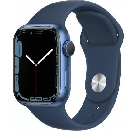 Apple Watch Series 7, 41 мм, корпус из алюминия cинего ...